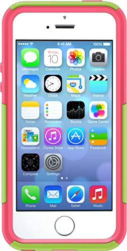 OtterBox Commuter Series Case for iPhone SE (1st Generation ONLY), iPhone 5S, iPhone 5 - Non-Retail Packaging - Glow Green/Blaze Pink