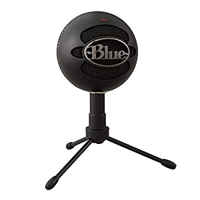Blue Microphones Microphones Snowball iCE USB Mic for Recording and Streaming on PC and Mac, Cardioid Condenser Capsule, Adjustable Stand, Plug and Play - Black