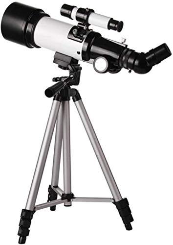 HZWLF Telescopio Refractor astronómico 336X para niños, Principiantes y Adultos, monoscopio Espacial de 50-100 mm, con Filtro de Nebulosa, Marco de teléfono, película de Bardo