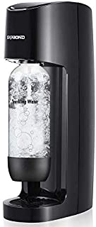 Sparkling Water Maker Carbonated Soda Machine Seltzer Fizzy Drink Maker -with 1L Re-usable BPA-free Carbonating Bottle(Doe...