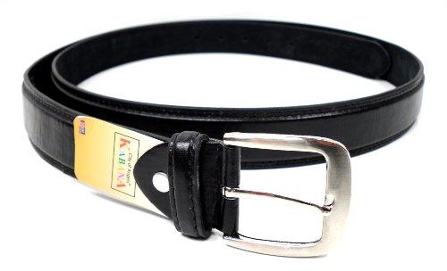flevado XXL Gürtel schwarz extra Langer Leder Gürtel Übergrößengürtel mit Dornschließe (150 cm Gesamtlänge)