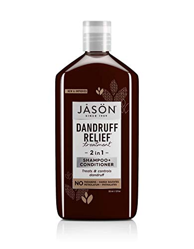 Jason Dandruff Relief Treatment 2 in 1 Shampoo + Conditioner 12 Ounces (1 Pack)