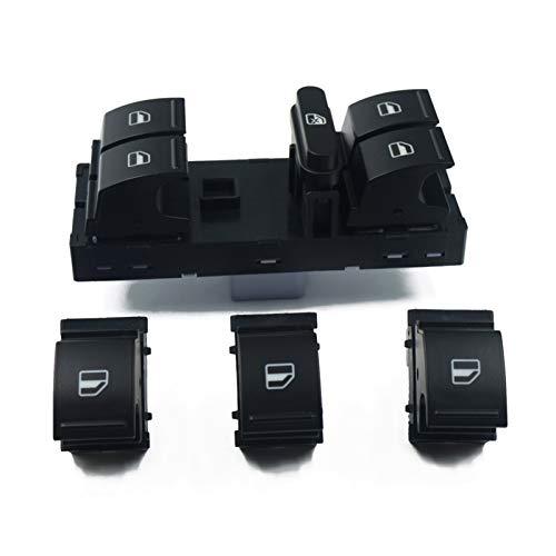 WZ02 Interruptor de ventana para Volkswagen VW Jetta Golf 5 6 Touran Tiguan Caddy Passat B6 B7 Cc Polo Seat Alharmbra CH0408