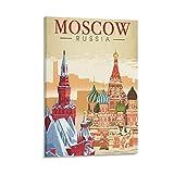 ERTYM Dekoratives Vintage-Reise-Poster Moskau, Russland,