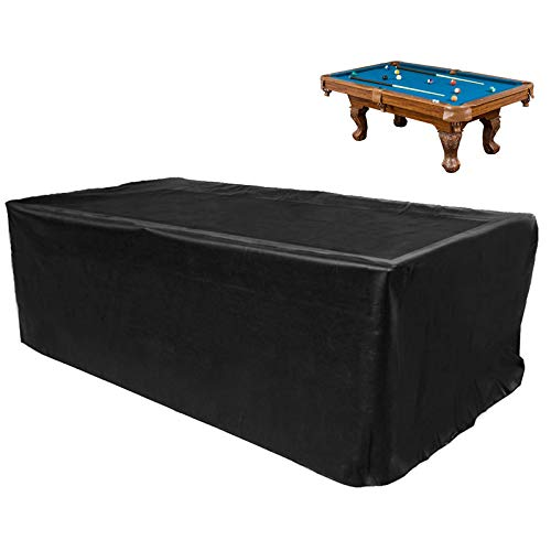 GEMITTO 7/8/9 ft Pool Table Cover, Waterproof Billiard Cover Polyester Fabric for...