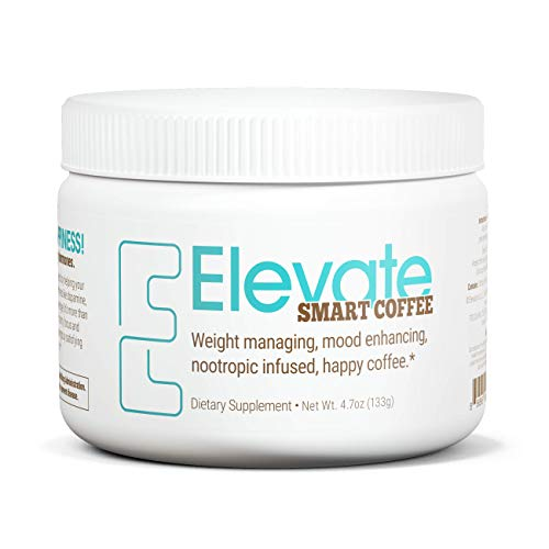 Elevacity - Elevate Smart Coffee with Nootropics - Happy Coffee to Support Weight Loss, Mood, and Energy - 4.8 Oz Powder Mix, 30 Servings
