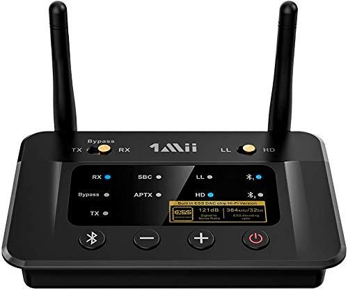 1Mii Bluetooth トランスミッター 5.0 ブルートゥース オーディオレシーバー bluetooth レシーバー dac 2台同時送信 aptx ll 低遅延/aptx hd 高音質/aac/sbc/光 デジタル アナログ変換/3.5mm aux/rca 対応、イヤホン/ヘッドフォン/スピーカー/pc/tv/テレビ用 B03Pro