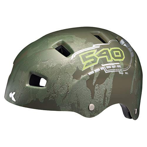 K-E-D Fahrradhelm 5Forty Extrem leicht, top belüftet und sehr Gute Passform - Allround-Helm in robuster maxSHELL- Technologie und Quicksafe-System (Olive 540 Matt)