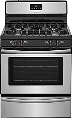 FFGF3051TS 30 Freestanding Gas Range with 4.2 cu. ft. Capacity 2 Oven Racks Backguard Broil and Serve Drawer 4 Sealed Gas Burners and Quick Boil in Stainless Steel