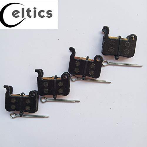 Celtics Lot de 4 paires de plaquettes de frein à disque organiques pour Shimano XT SLX LX HONE DEORE M775