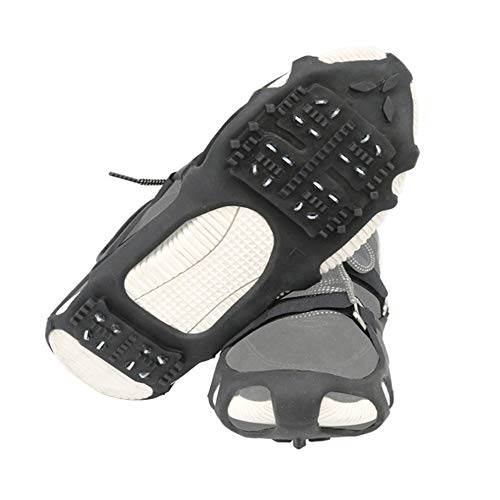 The Fisherman 24 Spikes AntiSlip Ice Grippers for Shoes/Boots Traction Cleats with 2 Removable Straps for Walking/Jogging/Hiking/Climbing/Fishing Size: S/M/L/XL XLarge