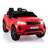 TOBBI 12V Licensed Land Rover Kids Ride On Car with Parental Remote Control Electric Vehicle for Boys Girls in Red