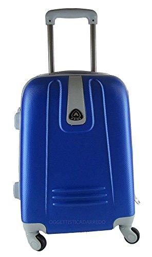 Maleta de ruedas, formato Ryanair, de ABS rígido, para cabina, equipaje de mano de 4 ruedas