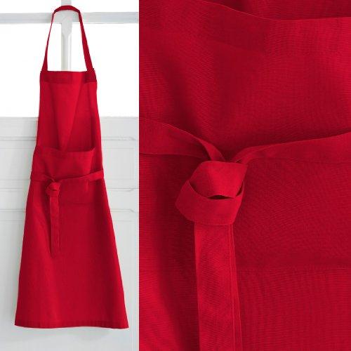 Today 257511Schürze aus Baumwolle, 79x 104cm, Baumwolle, Pomme d'amour/Rouge, 79x104 cm