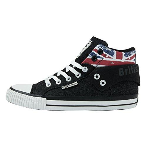 British Knights Unisex-Erwachsene ROCO Hohe Sneaker, Schwarz (Black/Union Jack 2), 38 EU