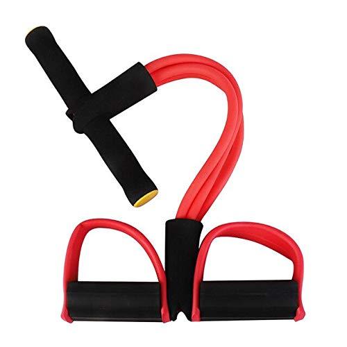 QWESD Bande de résistance de Yoga avec pédale de Pied élastique Stretch Tension Corde Body Fitness Equipment Gym Pull Rope Leg Tummy Training Tools Red