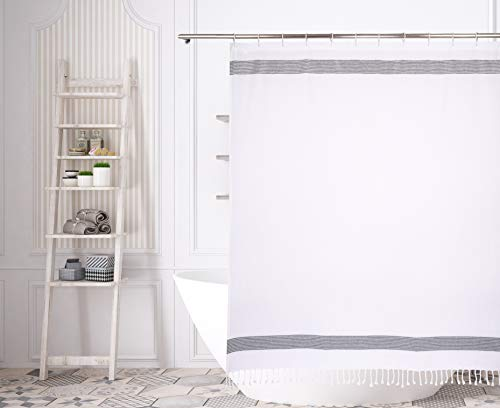 Homemaison Duschvorhang, weiß-grau-Silber, 70x72