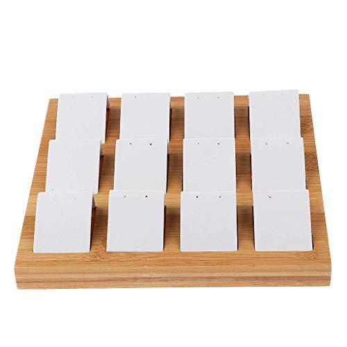 Tubayia 12 compartimentos de madera para joyas, joyas, expositores, bandejas, organizador para pendientes, pendientes