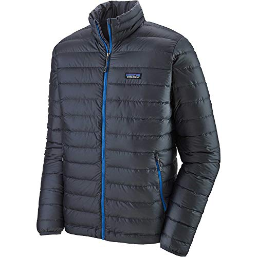 Patagonia M's Down Sweater, Giacca Uomo, Blu (Smolder Blue w)/Turchese (Andes Blue), XS