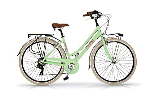 Bicicleta de 28 pulgadas para mujer Elegance Via Veneto 6 V aluminio verde Giulietta
