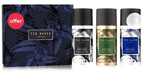 Ted Baker Mens Brockley Body Spray Trio Gift Set