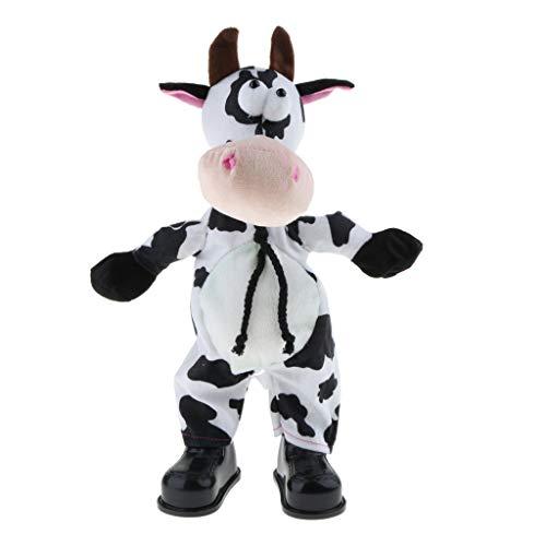 perfeclan 35cm Gesang Tanzen Kuscheltier Animierte Ornament Kinder Spielzeug Geschenk - Kuh - Hirtenhund