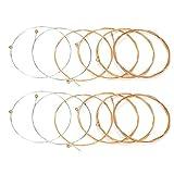 Dilwe Corda per Chitarra Acustica,12 Pezzi Corde di Alta qualità Prevenzione della Ruggine Ricambio Parti per Chitarra