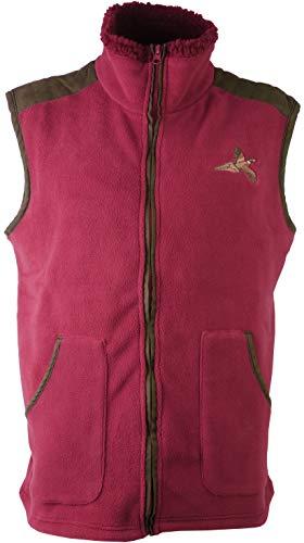 Fleece vest voor kinderen, met geborduurde fazant-land-jacht, vissen, wandelen