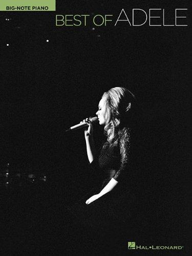 Adele: Best Of Adele (Big-Note) (großes Notenbild): Songbook für Klavier: Big-Note Piano
