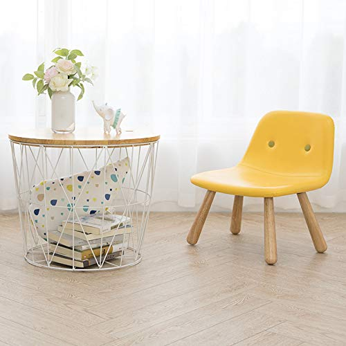 Modern Round Wire Metal Storage Basket Side Table Bedroom Balcony Corner Tea Table (White, Large)