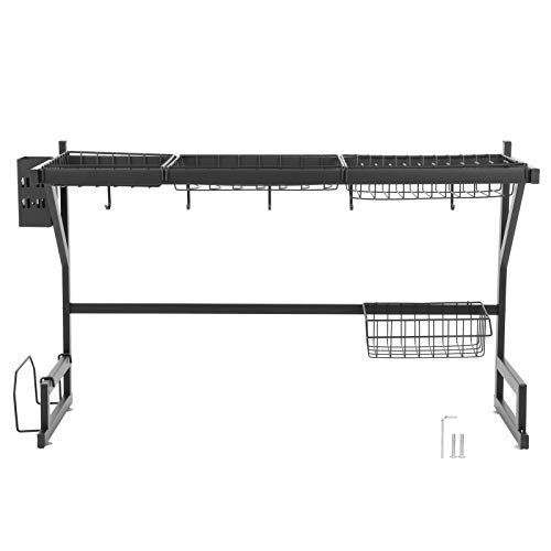 Durable Stable Dish Storage Rack Punch‑Free Sink Rack Stainless Steel Drying Rack Household Home