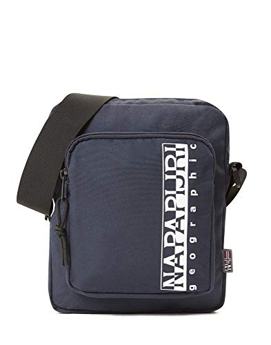 Napapijri HAPPY CROSS POCKET Borsa Messenger, 22 cm, Blu (Blu Marine)