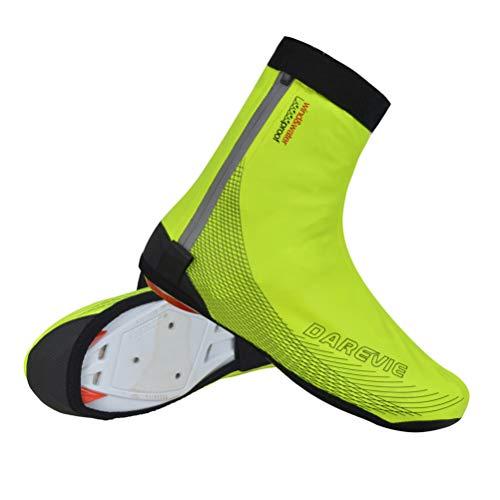LBCD Cubrezapatos impermeables para bicicleta de carretera MTB para deportes al aire libre Ciclismo Senderismo Pesca Escalada Reflectante Forro Polar para Invierno para Hombres Mujeres, Verde, XXL