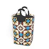 Cesto de almacenamiento para ropa sucia, diseño de mosaico de Lisboa, grande, plegable, cesta de almacenamiento para ropa sucia, juguetes y libros
