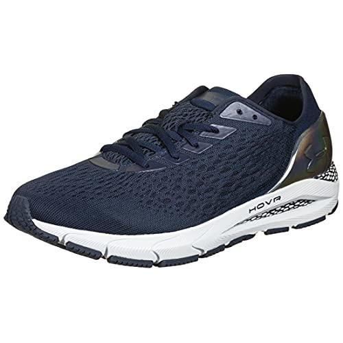 Under Armour HOVR Sonic 3 Metallic - Zapatillas de correr para hombre, Hombre, 3023936-400-8.5, Azul oscuro y plateado., 8.5 US - 42 EU - 7.5 UK