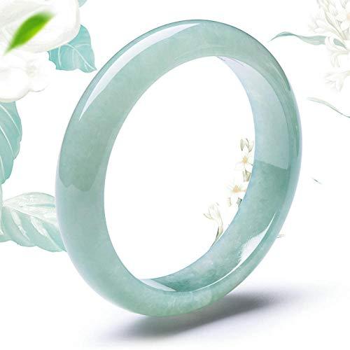 SanQ-Seven Pulsera de Jade Birmano_a Productos Modelos Femeninos Ice Run Light Green Natural @ 56