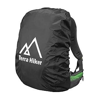 Terra Hike レインカバー 雨よけ リュックカバー 防水性 軽量 (ブラック S)