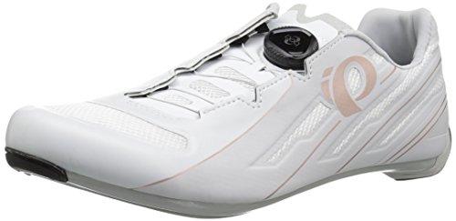 PEARL IZUMI Women's W Race Road v5 Cycling Shoe, White/Grey, 41.5