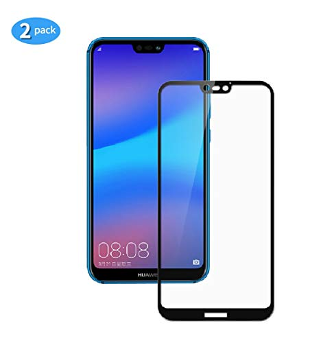yueer [2-pack] voor Huawei P20 Lite Scherm beschermer, Screenprotector van gehard glas-[Ultra Thin] [High Definition][Bubble-Free] [Easy Installation] [Anti Scratch].