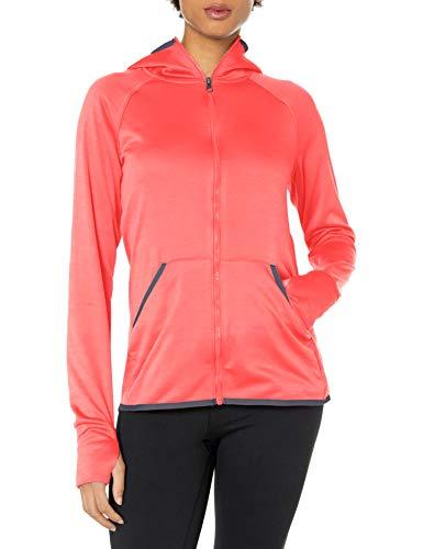 Hanes Women's Sport Performance Fleece Full Zip Hoodie, Razzle Pink Heather/Dada