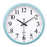 ZHJLTJ-Wall clock Innen- Moderne Heimat Wanduhr Kreative Quarzuhr EuropäIsche Wanduhr - American Style - Leicht Zu Lesen - Einfache Dekorative Wohnzimmer Schlafzimmer BüRo - Pool (30x30...