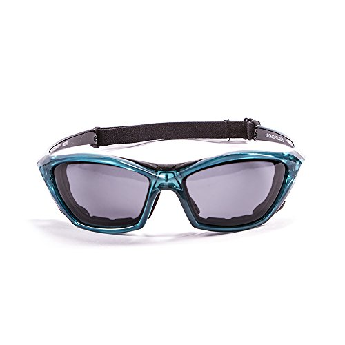 Ocean Sunglasses Lake Garda - Gafas de Sol polarizadas - Montura : Azul Transparente - Lentes : Ahumadas (13000.6)