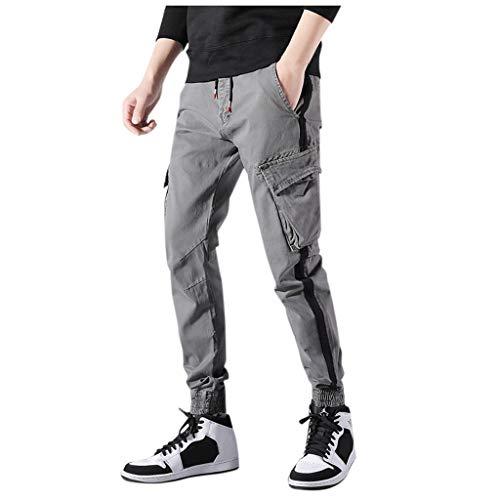 Alalaso Men's Jogger Casual Pants Lightweight Hiking Running Outdoor Sports Pants Gray