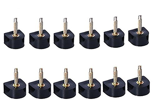 6 Paar Zwart Duurzame U-vorm Hiel Tips Vervangende Hoge hak Caps Protectors Schoen Reparatie Tip Taps Schoenen Deuvels Antislip Maat 11, 12, 13 mm