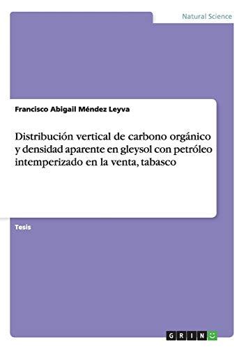 Distribución vertical de carbono orgánico y densidad aparente en gleysol con petróleo intemperizado en la venta, tabasco