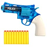 Multi-Purpose Toy Revolver Guns, Soft Bullet Toy Blaster Revolver Guns for Boys, Water Guns Toy for Boys ,with 10 Soft Foam Darts for Kids, Teens, Adults (Blue)