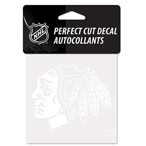NHL Chicago Blackhawks 4x4 Perfect Cut White Decal, One Size, Teamfarbe