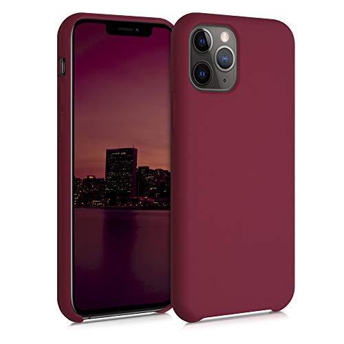 kwmobile Cover Compatibile con Apple iPhone 11 PRO - Custodia in Silicone TPU - Back Case Protezione Cellulare Rosso rabarbaro