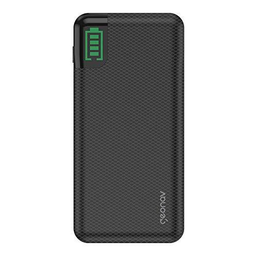 Carregador Portátil Universal 20.000mAh, 2 saídas USB QC 3 para carregamento rápido + 1 saída USB-C para carregamento rápido notebook até 60W (Power Delivery), até 7 recargas, Geonav, Preto