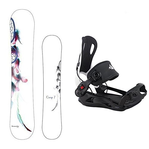 Camp Seven Dreamcatcher with MTN Rear Entry Flow Style Bindings Women's Complete Snowboard Package (147 cm)